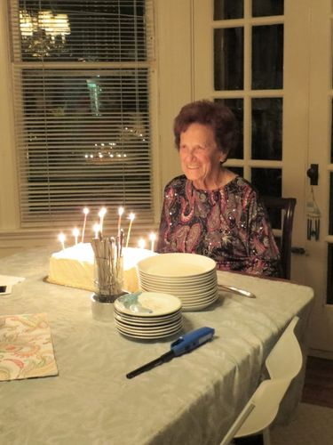 Dorothy White at her 85th birthday party