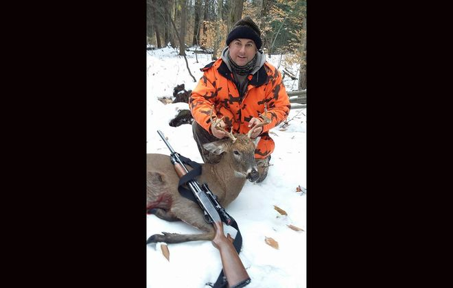 Scott Rohe of Cheektowaga with an antlered buck. The 2019-20 harvest numbers are out. (Photo courtesy Scott Rohe)
