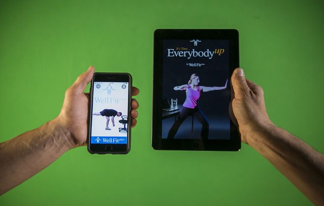The Western New York makers of the Well Fit Plus computer application, designed to encourage workers to take short exercise breaks, is being offered free to anyone who would like to boost their health during the Covid-19 pandemic. (Buffalo News file photo)