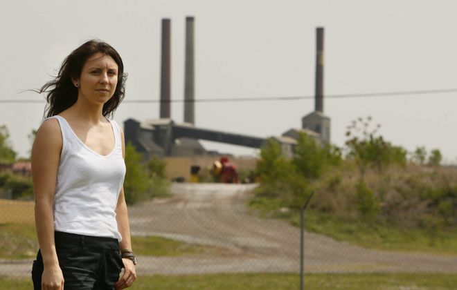 Rebecca Newberry of the Clean Air Coalition of Western New York, whose protests helped lead to the closure of Tonawanda Coke, says the federal relaxation of anti-pollution rules during the Covid-19 pandemic will cost lives. (Derek Gee/News file photo)