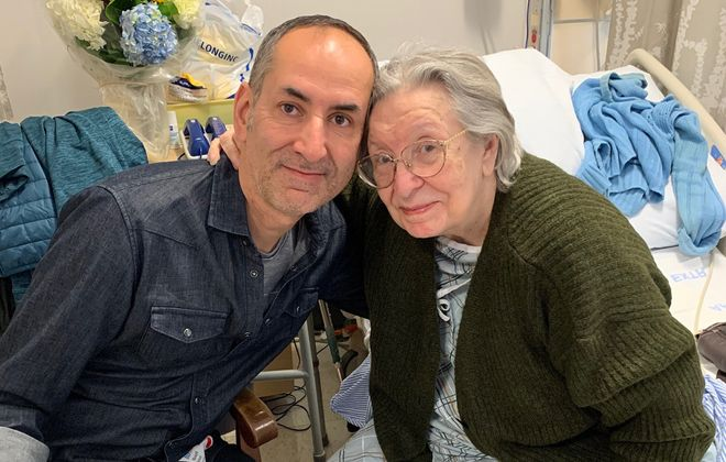 Teodorina Stanescu with her son, Constantin Stanescu, in an October 2019 photo. Teodorina Stanescu died recently at Buffalo Center for Rehabilitation and Nursing but her son and other family members say the nursing home did not notify the family for a week. (Provided by Constantin Stanescu)