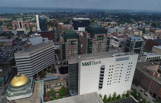 M&T's first-quarter profits were stung by the Covid-19 pandemic. (Derek Gee/News file photo)