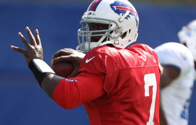 Tarvaris Jackson was with the Bills in the 2012 season  {James P. McCoy / Buffalo News file photo}