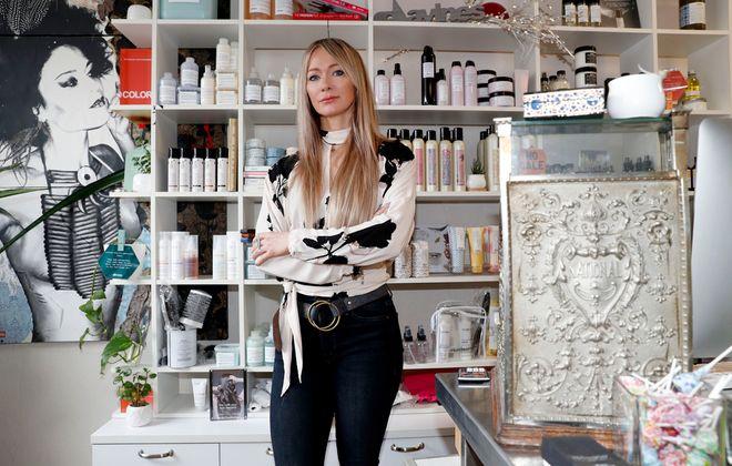 Buffalo salon owner Amanda Robinson is the sole employee of her small business, New Age Salon. (Robert Kirkham/Buffalo News)