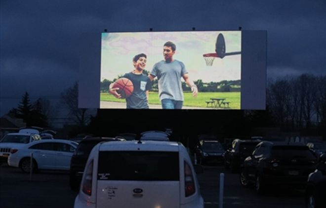 Transit Drive-in reopening draws a crowd