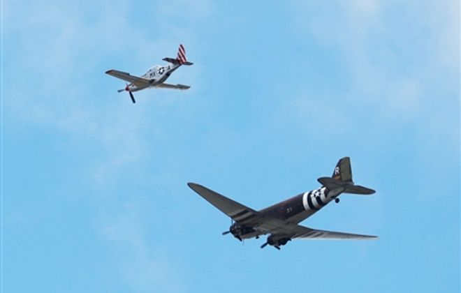 Historic warplanes fly over Western New York