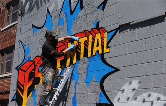 Muralist Chuck Tingley pays tribute to frontline workers