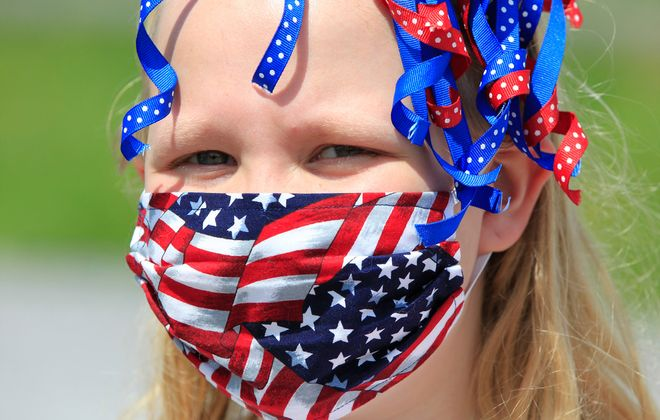 Jessica Balon,10, during Memorial Day weekend in Corfu on, Saturday, May 23, 2020. (Harry Scull Jr./Buffalo News)