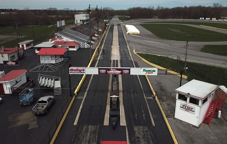 Drone shot of the New York International Raceway Park, formerly known as Lancaster Speedway. (John Hickey/Buffalo News)