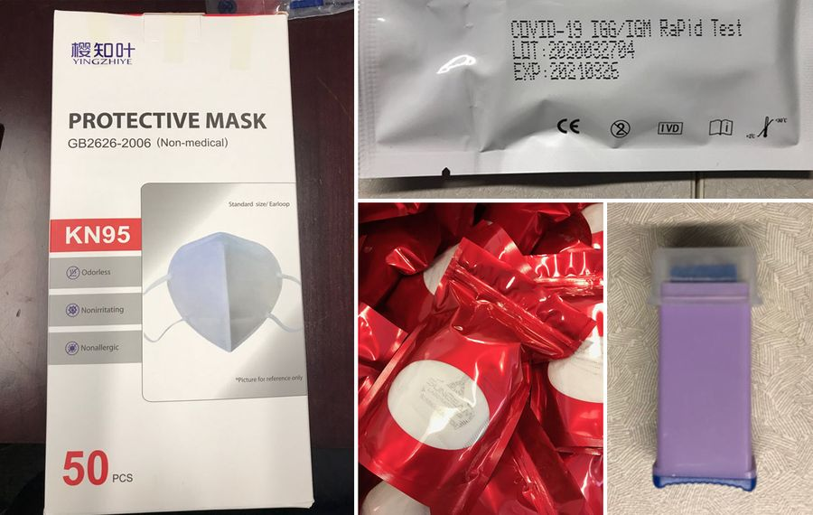 Thousands of mislabeled KN-95 masks, test kits seized from Lockport CBD oil tester