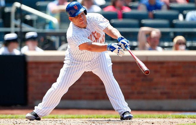 A universal designated hitter in baseball means fans won't have to watch pitchers like former Met Bartolo Colon flailing at the ball while at the plate. (Getty Images)