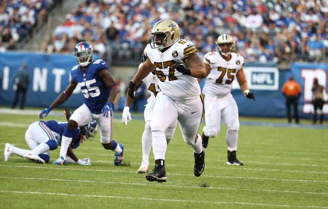 Larry Warford remains a free agent and could be an option for the Bills (Al Bello/Getty Images)