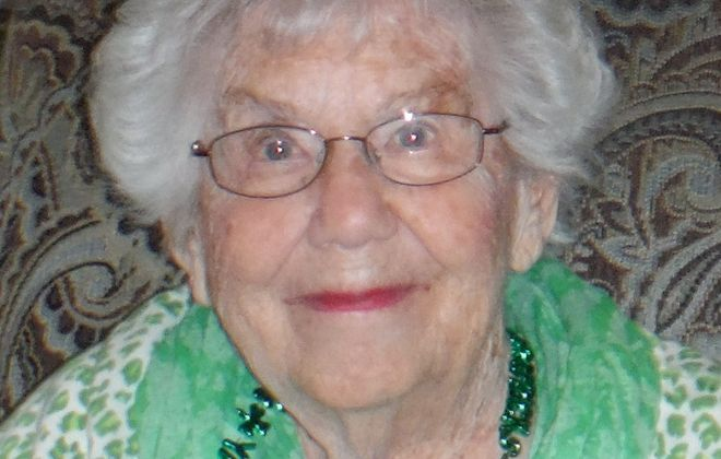 Doris Mathias, 102, died Sunday, May 17, 2020 from Covid-19 after contracting the virus at McAuley Residence nursing home in the Town of Tonawanda. [Photo courtesy of family]