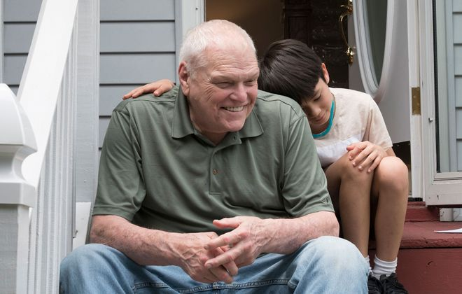 "The late Brian Dennehy, left, gives a memorable performance in his final film ""Driveways,"" also starring Lucas Jaye. (Courtesy  FilmRise)"