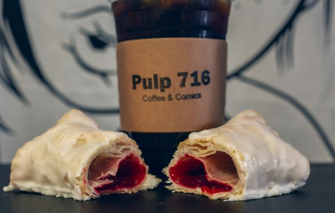 Raspberry-filled Plankies from Pulp 716, with locations in North Tonawanda and Lockport. (Shana Feeley Photography)