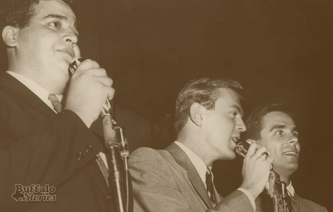 Joey Reynolds, Tommy Shannon and Danny Neaverth are all South Buffalo natives who became stars on WKBW Radio. (Buffalo Stories photo)