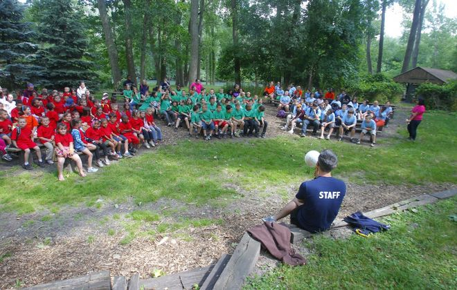 There will be no large gatherings like this if  day camps operate this summer. (John Hickey/News file photo)