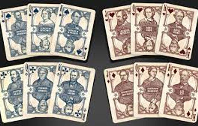 Bicycle Civil War playing cards.