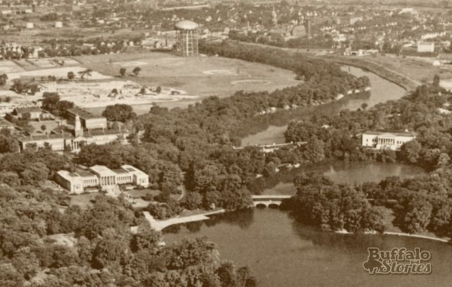 Before the Expressway: Delaware Park Lake and Scajaquada Creek in the mid-1950s