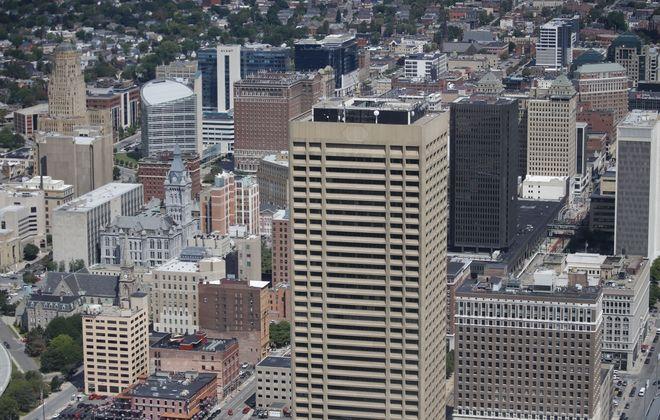 M&T is preparing to resume work on its tech hub inside Seneca One tower. (Derek Gee/News file photo)