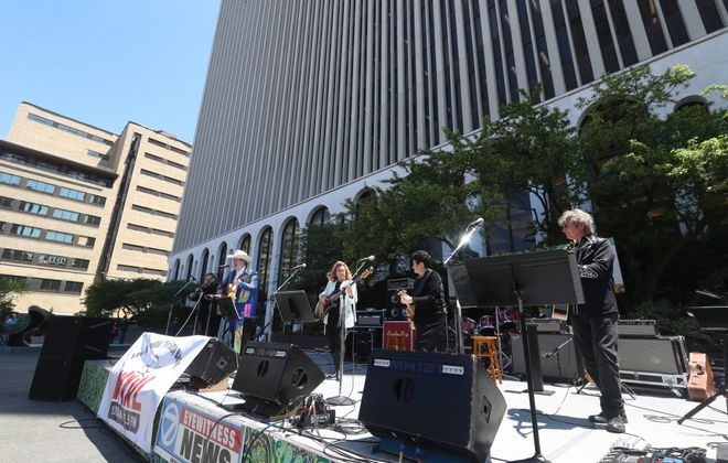 M&T Bank's plaza won't host live concerts this year. (John Hickey/News file photo)
