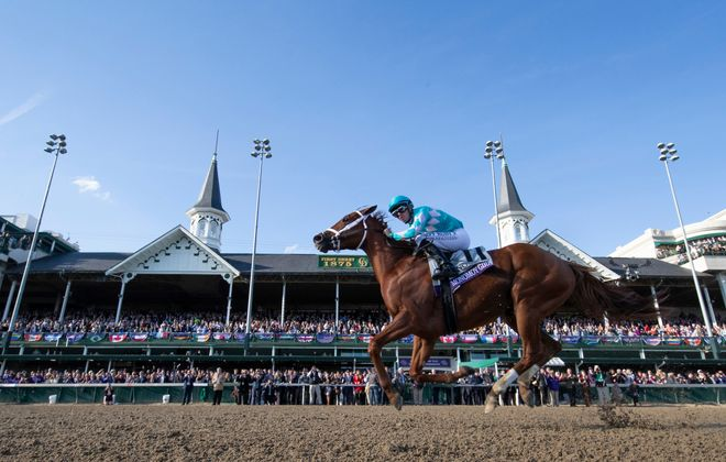 Monomoy Girl #11, ridden by Florent Geroux, wins the Longines Breeders' Cup Distaff on Breeders' Cup World Championship Saturday at Churchill Downs on November 3, 2018 is scheduled to run this weekend. Photo Credit: Alex Evers/Eclipse Sportswire/CSM /Breeders Cup
