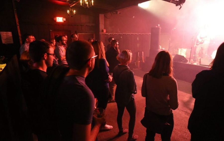 A pre-Covid-19 crowd at Mohawk Place. It remains unclear what music clubs will look like when they reopen. (News file photo)