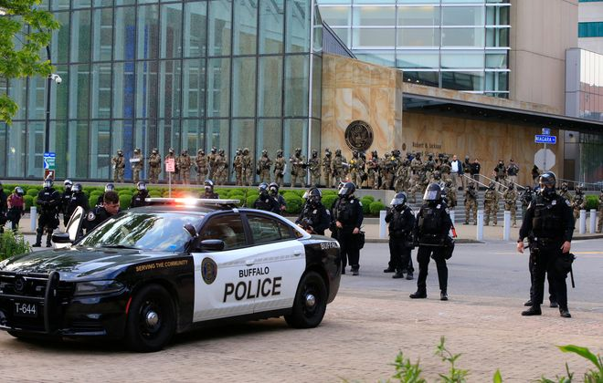 An activist group wants the city to cut the Buffalo Police Department budget and put the money into programs for people. (Harry Scull Jr./Buffalo News)