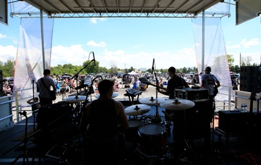 Aqueous rocks out at the Transit Drive-in