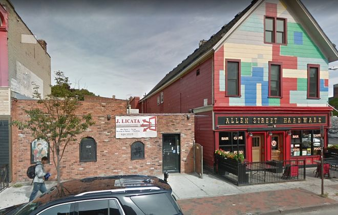 Mark Goldman, who led the transformation of Chippewa Street 30 years ago, is now tackling Allentown, with a new project at 249 Allen, next to his Allen Street Hardware Cafe. (Google)