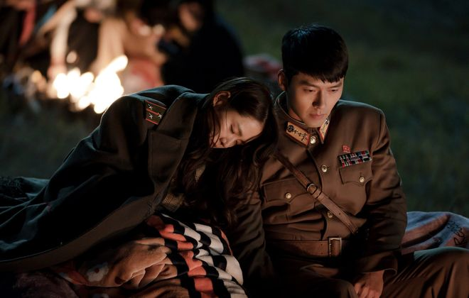 "Son Ye-Jin, left, and Hyun Bin fall in love under unusual circumstances in ""Crashing Landing on You,"" now streaming on Netflix. (Photo by Lim Hyo Seon/Netflix)"