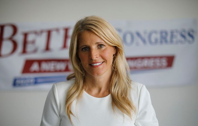 Beth Parlato, who finished a distant second in the 27th Congressional District GOP primary, is being pressed to forego a November run on the Conservative line. (Derek Gee/Buffalo News)