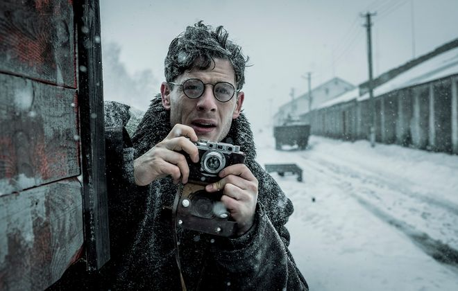 James Norton stars as the  young Welsh journalist who told the story behind the deadly man-made famine in Ukraine. (Photo courtesy of Samuel Goldwyn Films)