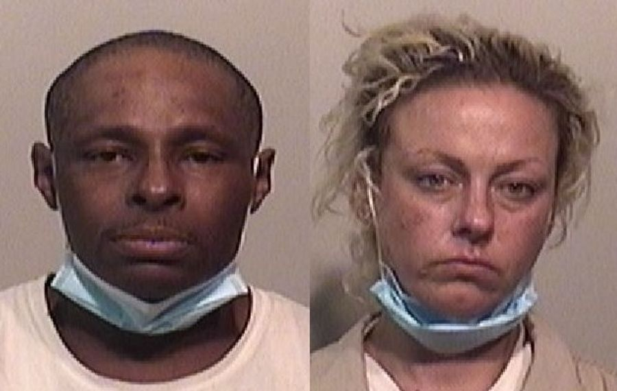 Michael C. Stewart, left, and Anna L. McLaughlin face several charges. (Niagara County Sheriff's Office photos)
