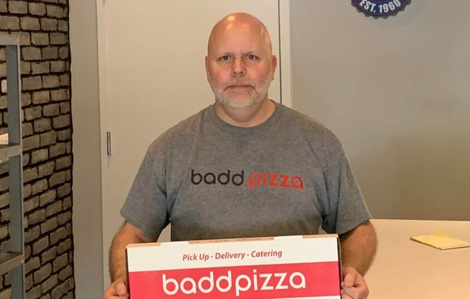 """Steve Houck, aka """"Stevie Badd,"""" is the man behind the pizza that will make Buffalonians in the D.C. area feel like they're back home."""