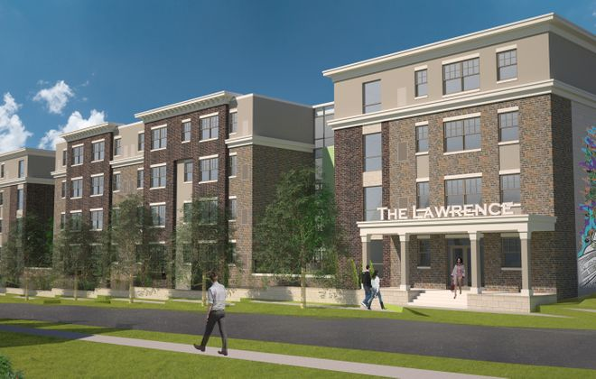 A rendering of The Lawrence project. (Courtesy of Symphony Property Management)