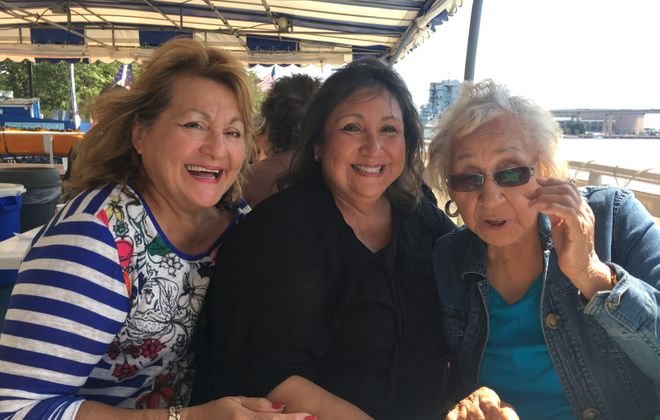 From left, sisters Diane Kennedy and Cynthia Mohr and their mother Norma Jean Kennedy, who all died while being treated for Covid-19 at Olean General Hospital between May 23 and June 12. (Provided photo)