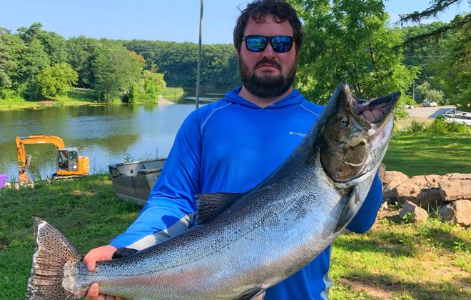 Zack Blain of Honeoye caught this 29-pound, 10-ounce king salmon to win the 2019 Summer LOC Derby. How big will the 2020 winner be? (Photo courtesy of Zack Blain)