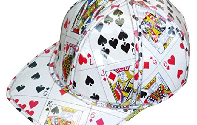 Cap made from playing cards from Upcycling by Milo.