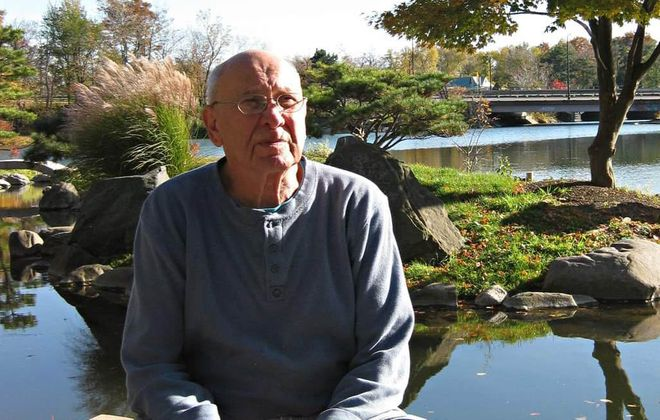 Philip Beckman at Hoyt Lake. Beckman, 95, survived the Holocaust but died June 2, 2020 of Covid-19. (Photo courtesy of Melissa Beckman)