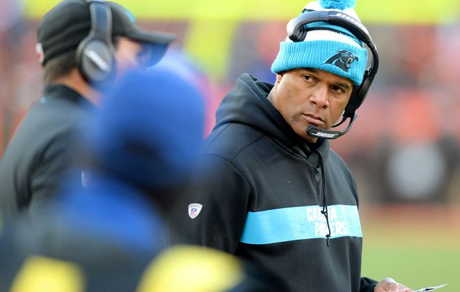 Former Carolina Panthers defensive coordinator Eric Washington is the Bills' new defensive line coach (Jeff Siner/Charlotte Observer/TNS)