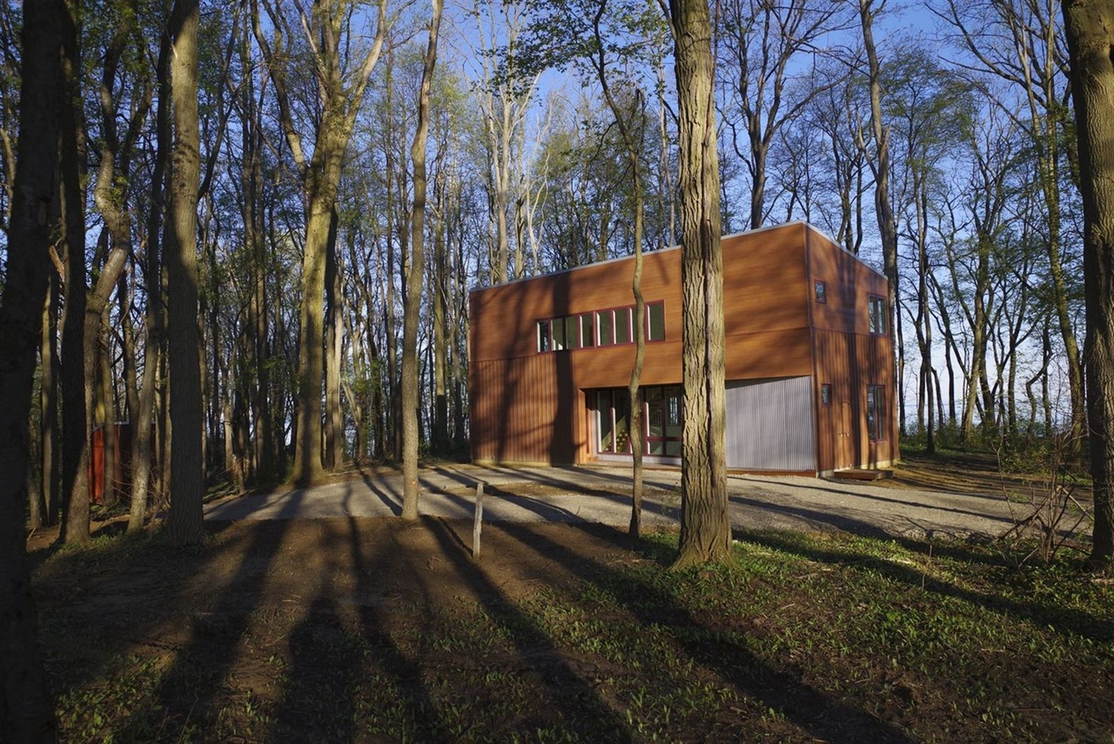 This is Turtle Rocks, the weekend house Wayne Geist built in Portland, N.Y., on a 4-acre lot on the shore of Lake Erie. Geist worked with architect Peter DiPietro of Westfield on the project.