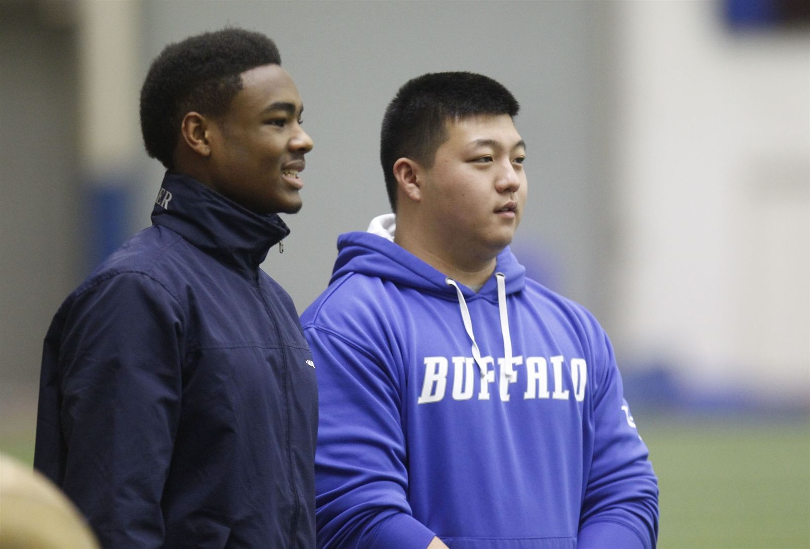 University at Buffalo football player during spring practice.
