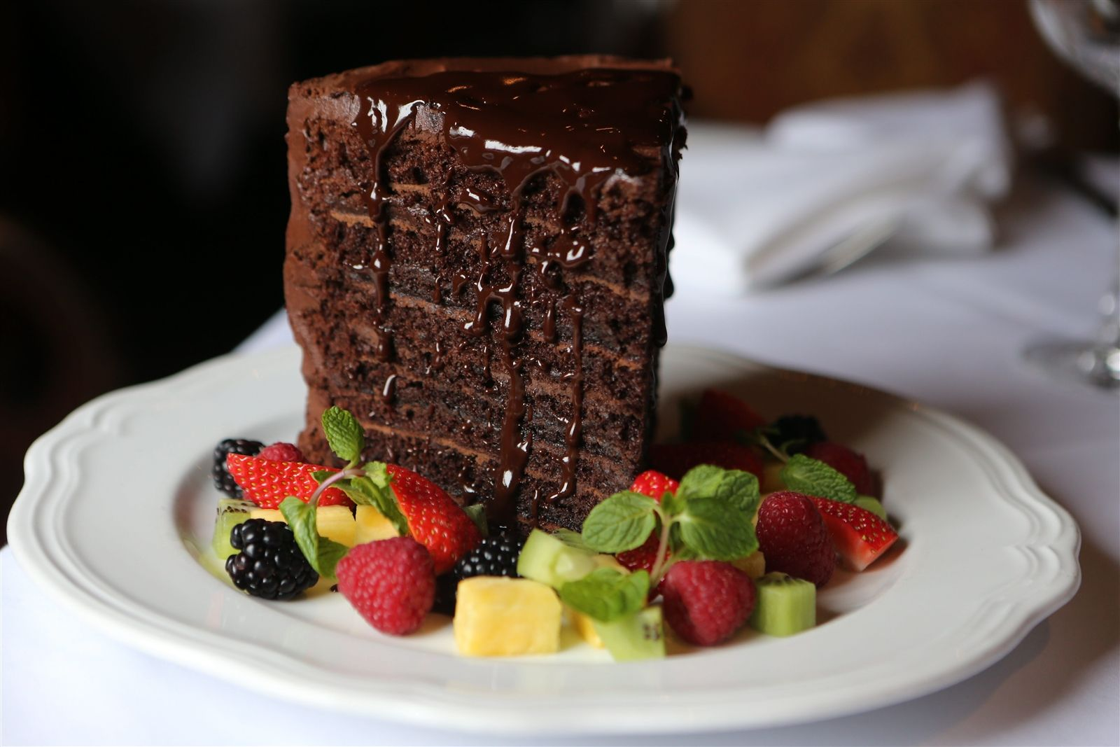 Chocolate Cake for 2 from the Buffalo Chophouse.