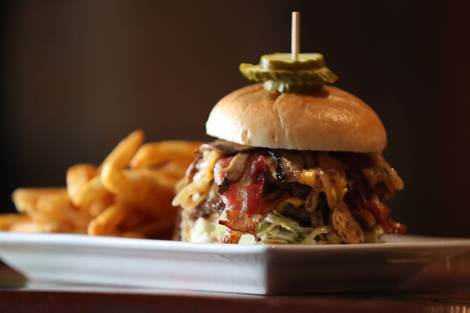 This is Say Cheese's fully loaded Big Boy burger.