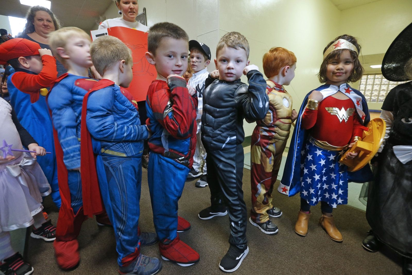 There seems to be a collection of super-heroes roaming the pre-K hallways.