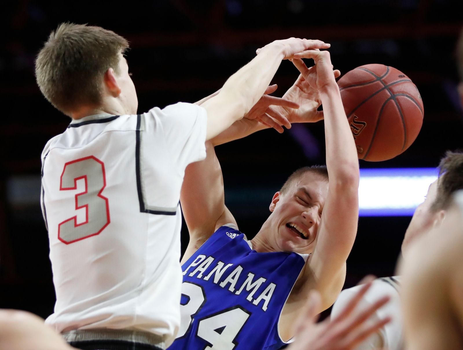 Panama player Gerrit Hinsdale has the ball knocked away by Oppenheim-Ephratah/St. Johnsville defender Logan Dillenbeck during the second half.