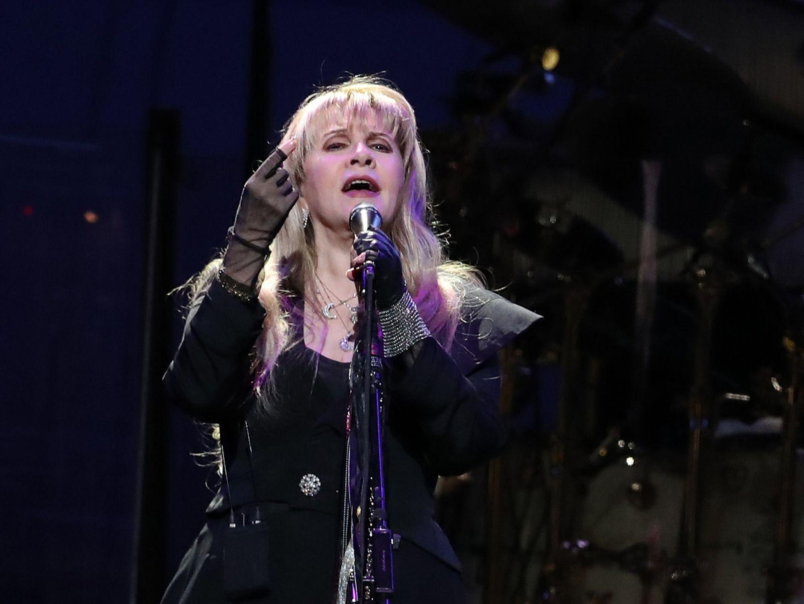 Stevie Nicks performs.