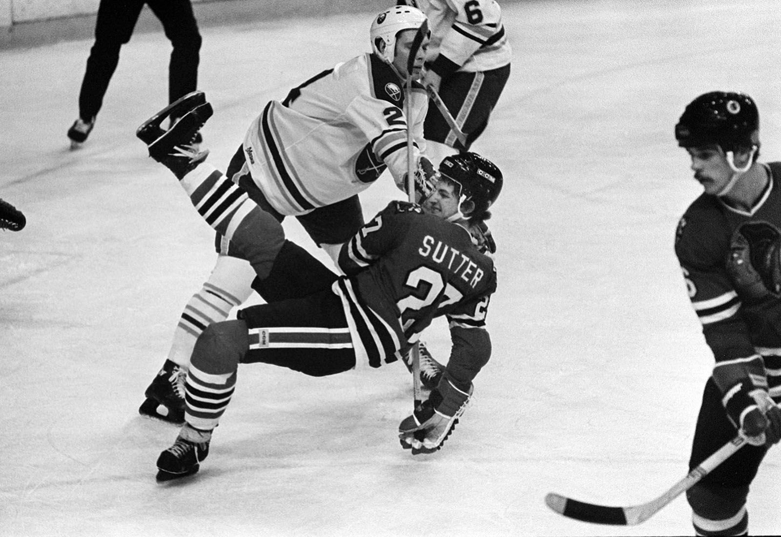 Bill Hajt during a game with Chicago.