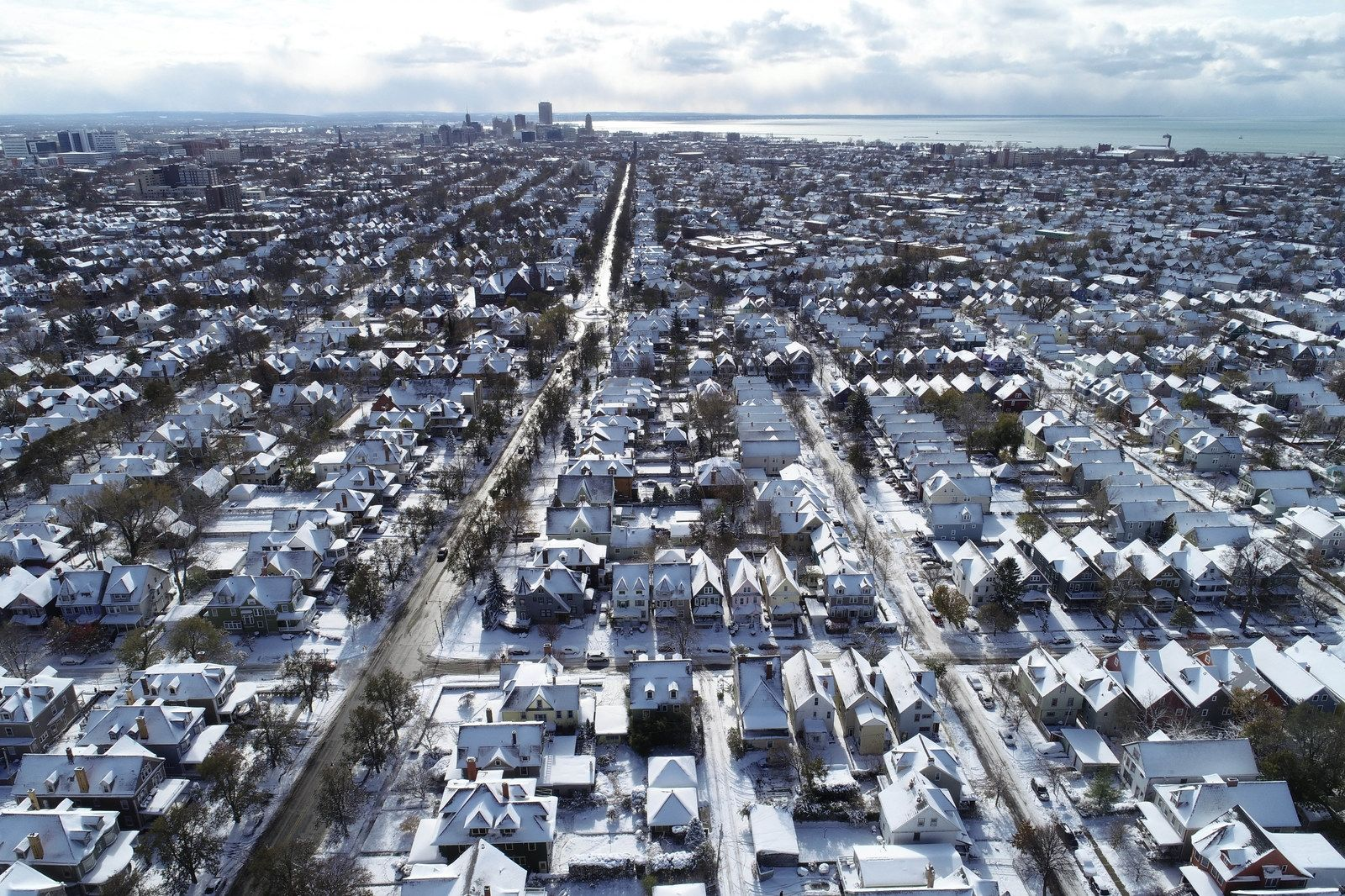The west side of Buffalo is nestled in a cozy coat of white after the first major snowfall of the season, Tuesday, Nov. 12, 2019.